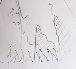 Letter N: A2 brainstorm sketch