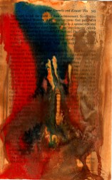 Sultan Taimur - acrylic ink and condensed watercolour drip painting background to page 8
