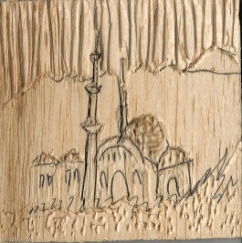 mosque plywood cut