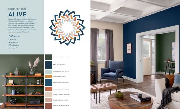 Sherwin-Williams Color Forecast Palette Alive