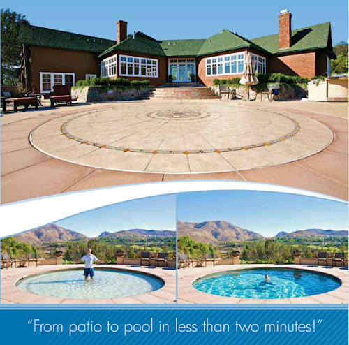 Amazing Technology Turns a Patio Into a Pool