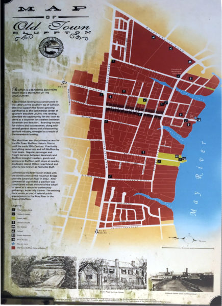 Old Town Bluffton Map