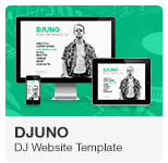 DJuno - DJ Website Adobe Muse Template