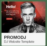 PromoDJ - DJ Website Adobe Muse Template
