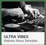 Ultra Vibes - DJ Music Podcast Website Adobe Muse Template