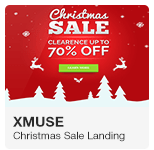 XMuse - Christmas and New Year's Sale Promo Adobe Muse Template