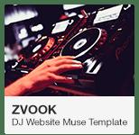 Zvook DJ Website Adobe Muse Template
