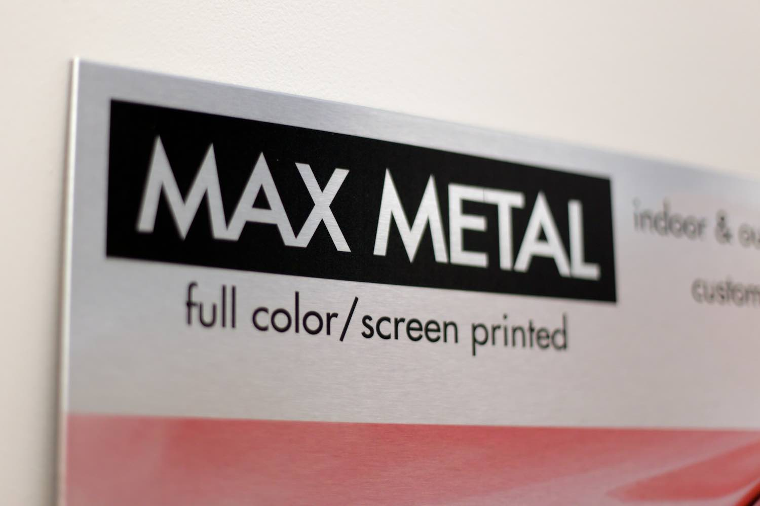 composite metal signs design