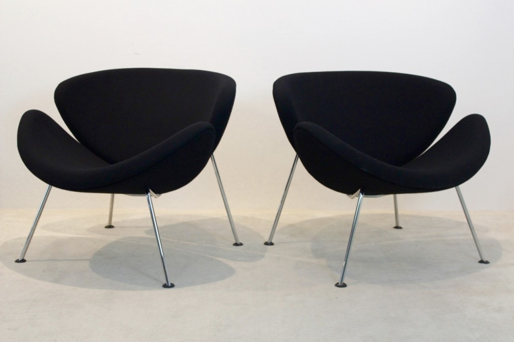 orange slice chair transparent polycarbonate chairs pair of artifort f437 by pierre paulin design prev