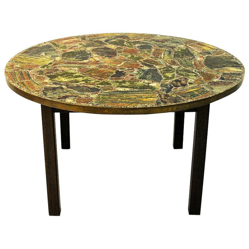 midcentury stone table conglo by erling viksjo and odd tandberg 1960s norway