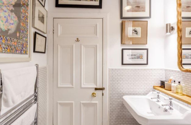 bathroom white door