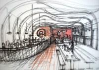 Sketch of restaurant design | Designality