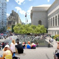 * Architecture: Metropolitan Museum of Art - 5th avenue plaza + fountains by The Olin Studio