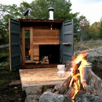 * Residential Architecture: Sauna Box by Castor Canadensis - Shipping Container Transformed into a Sauna