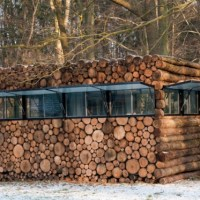 * Residential Architecture: Tree-Trunk Garden House by Piet Hein Eek