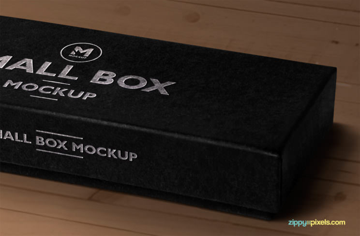 Download Small Black Box Free Mock-Up » Design a Lot