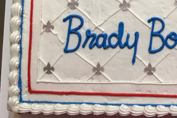 Finished cake detail