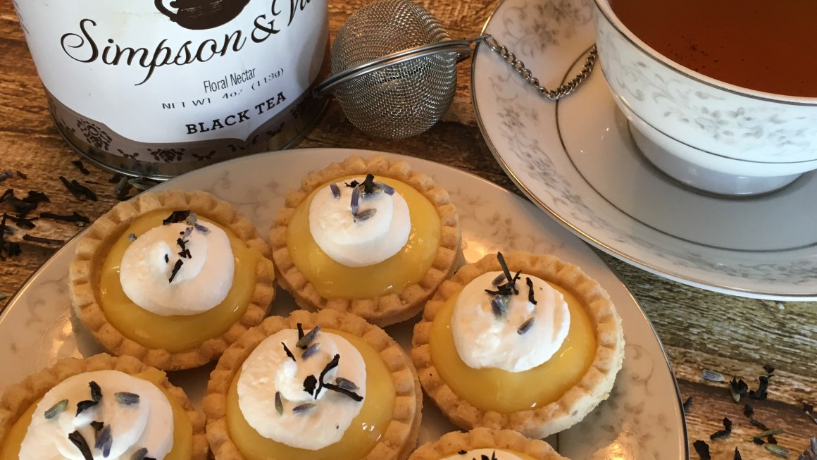 No-Bake Lemon Lavender Tarts