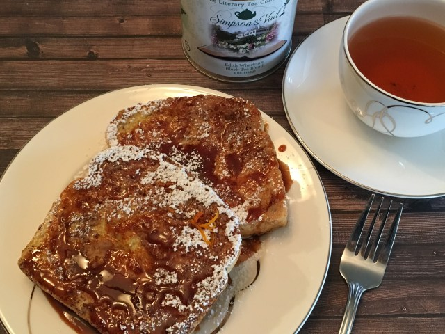 French Toast with Orange, Cinnamon, and Brown Sugar Syrup