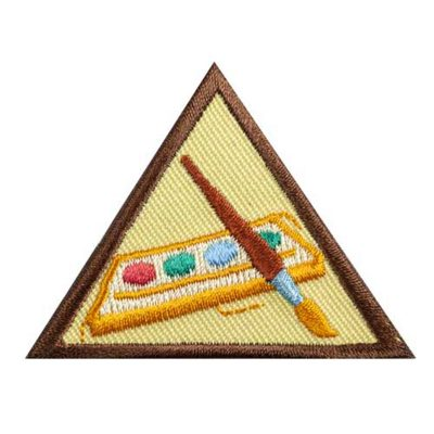 Brownie Badge at Home: Painting