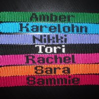 Friendship bracelet med text
