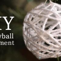 Snowball/ Garnboll / Trådboll Dekoration
