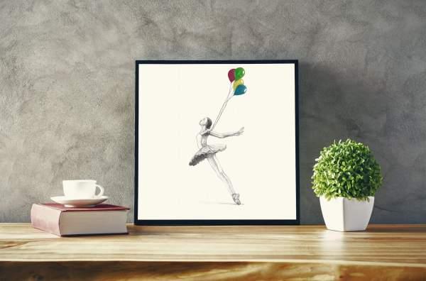 Design and more & More illustration art dessin aquarelle DUC Thomas Ducourneau Boutique ballet et ballons