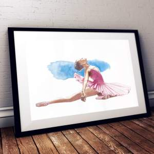 highlighted danse ballet aquarelle illustration
