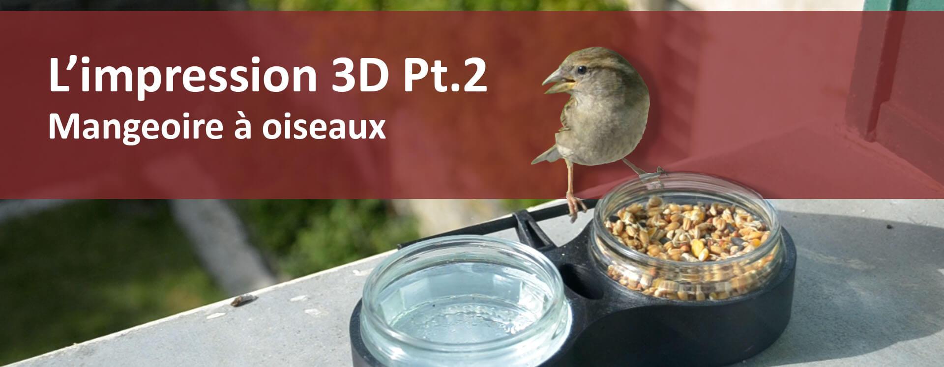 mangeoire oiseaux impression 3D