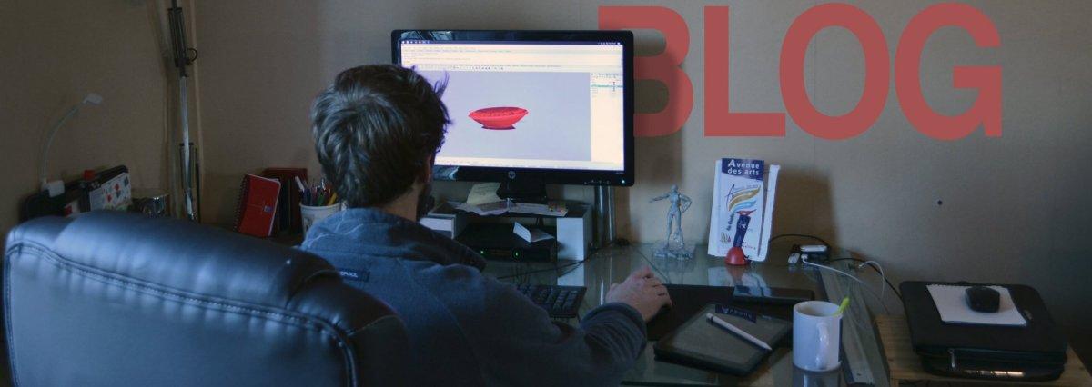Blog design impression 3D