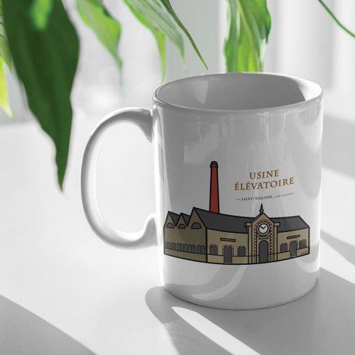 usine élévatoire saint nazaire graphisme logo mug