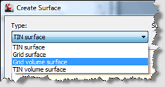 Autodesk Civil 3D Surface Type