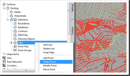 Autodesk Civil 3D Edit Surface