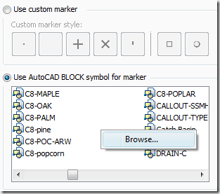 Civil 3D – Point Style Browse from Editor Tip