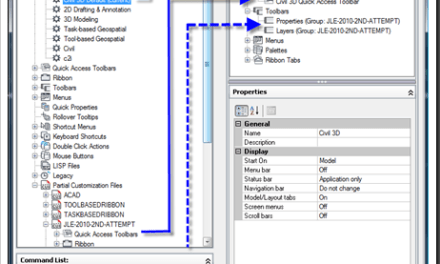 Civil 3D – Adding Toolbars in the CUI