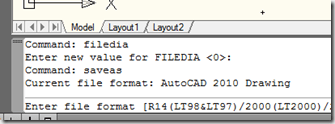 Civil 3D – FileDia Switch