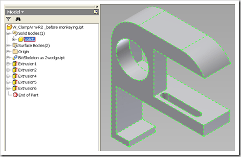 Inventor – Using Split Solid to divide 1 body into 2