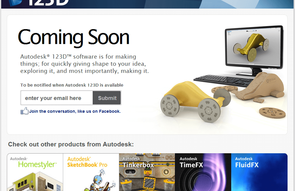 Autodesk enters the DIY 3D Prototyping Market