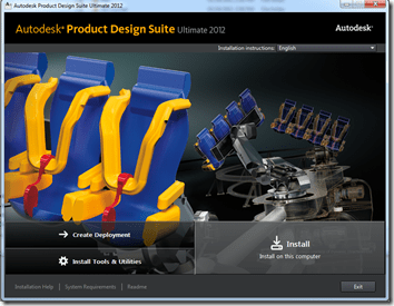 Autodesk Product Design Suite 2012 Install