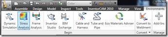 Autodesk Inventor Environments Ribbon