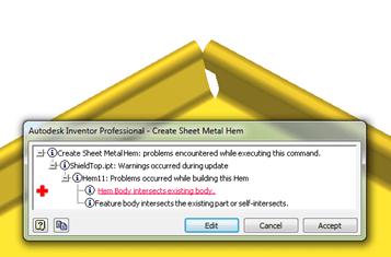 Autodesk Inventor Sheet Metal Fold Error