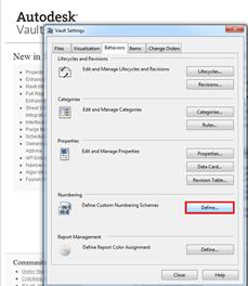Vault | Professional 2012 Numbering Scheme Fix