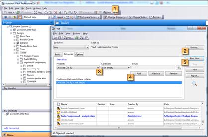 Autodesk Vault Professional 2012 Find