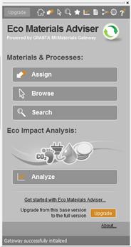 Granta Eco Material Advisor in Autodesk Inventor