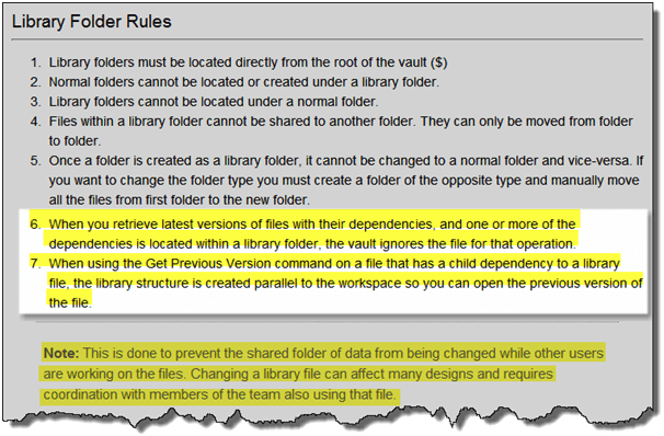 Autodesk Vault Library Folder Rules