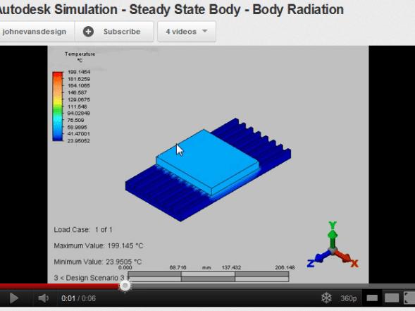 Autodesk Simulation Steady State Heat Transfer body to body radiation
