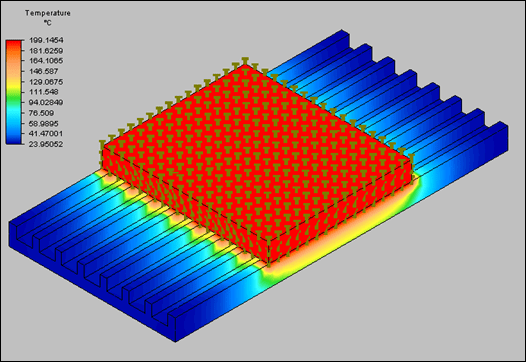 Autodesk Simulation Steady State Heat Tranfer Results