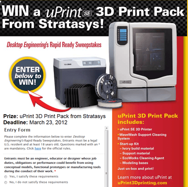 uPrint SE 3D Print Contest