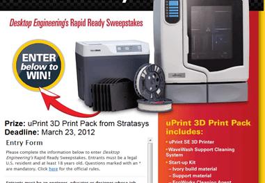 Win a uPrint SE 3D Print Pack