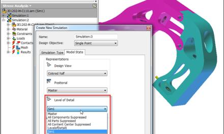 Inventor | Simulation LOD Model State Tip